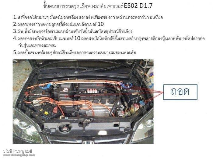 DIY การเปลี่ยนเป็นแร็คไฟฟา civic02 D1.7