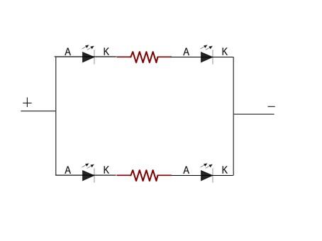 วงจรการต่อ LED