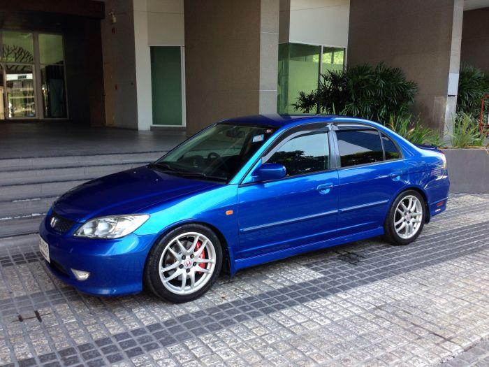 ขาย Civic dimension 2.0 ปี 2004 สีน้ำเงิน Vivid Blue แต่งนิดหน่อยครับ