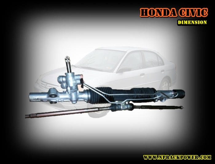 ++แร็คเพาเวอร์รั่ว เสียงดัง ++ ปัญหาที่ไม่ควรมองข้าม สำหรับ Honda Civic Dimension