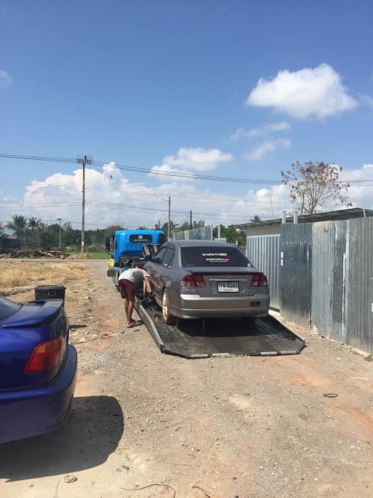 เกิดเหตุขัดข้องหลายอย่าง จึงต้องเปลี่ยนสถานที่ทำรถ